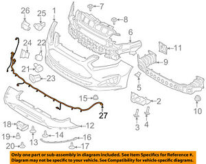 ford oem 13 16 c max front bumper grille grill wire harness rh ebay com