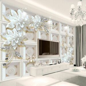 Home Wall Murals Wallpapers 3d Floral Backdrop Wallpaper Bedroom Elegant Decors Ebay,What Is A Neutral Color Palette