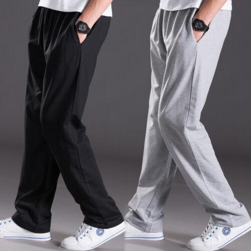 Men Sport Long Casual Pants Trousers Fitness Workout Joggers Gym Sweatpants New