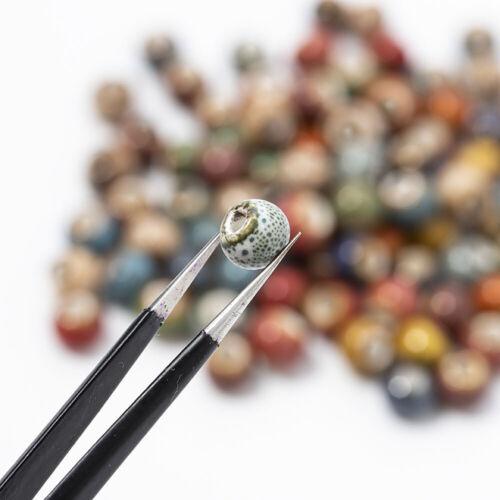 100pcs//set Retro Loose Ceramic Porcelain Beads Charms DIY Jewelry Making Craft