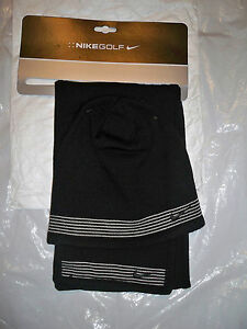 WOMENS NIKE GOLF SCARF BEANIE SET BLACK WINTER SNOW SKII HAT CAP NEW ... 131031107