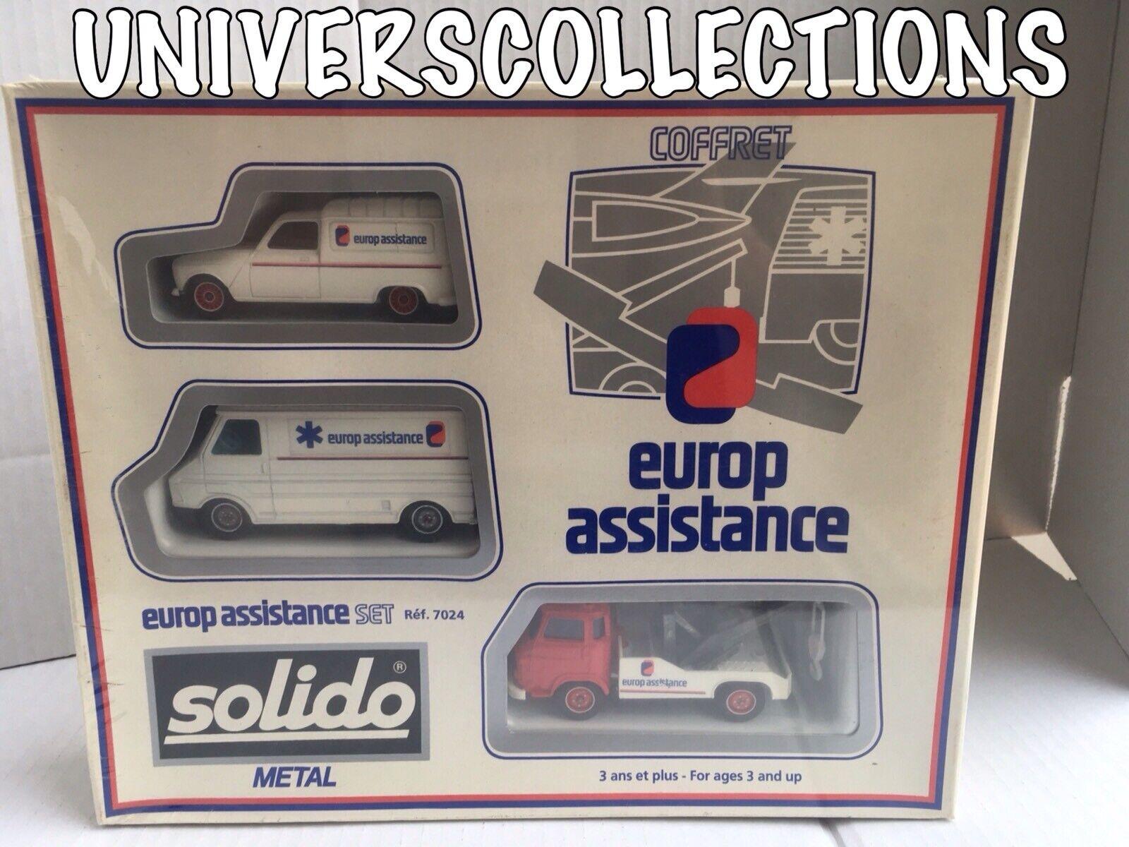 SOLIDO 1 43 COFFRET SOUS BLISTER REF 7024 EUROP ASSISTANCE RENAULT 4L CARS SET