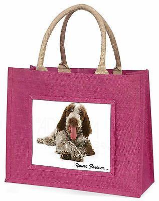 Italian Spinone Hund dir Für Immer Große Rosa Einkaufstasche Weihnachten,