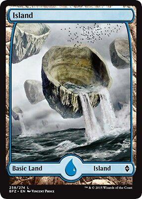 Island #257 FULL ART FOIL MTG Magic - NM//M Battle for Zendikar L