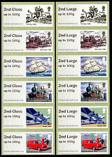 !NEW NCR ERROR 2nd + 2nd LARGE STRIPS/6 ROYAL MAIL HERITAGE TRANSPORT POST & GO