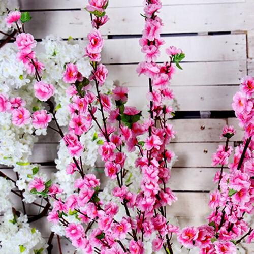 65 cm Künstlich Kirsche Pflaume Pfirsich Blühen Ast Die Seide Blume Baum Stengel