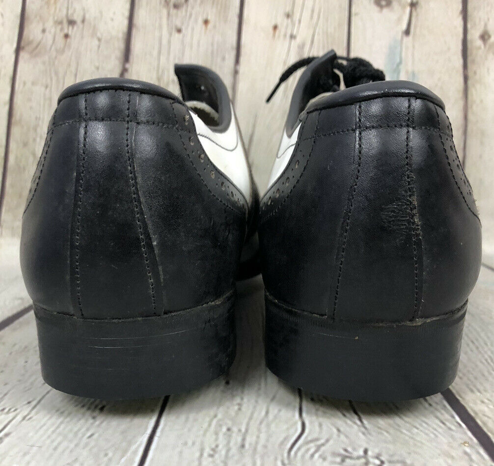 Vintage Mens Cheetah Golf Shoes Spikes Oxford Size 10 Made in England