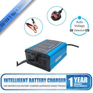 Cargador-de-bateria-de-coche-12V-6V-carga-lenta-2-10-amperios-Plana-Baterias-van-camion
