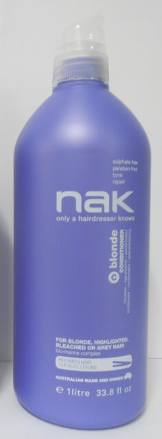 NAK Blonde Conditioner Litre with Pump - Sulphate Free