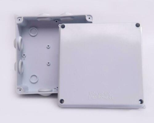 OUTDOOR JUNCTION BOX IP55//65 WATERPROOF PVC ADAPTABLE ENCLOSURE INDOOR ALL SIZES