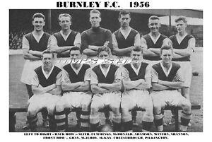 BURNLEY-F-C-TEAM-PRINT-1956-CHEESEBROUGH-McKAY-McILROY