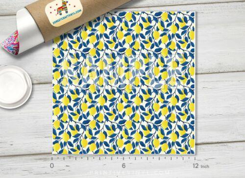 Siser HTV Adhesive Vinyl 819 Tropical Fruit Lemon Patterned HTV Printed HTV