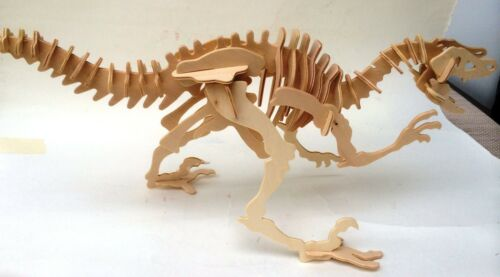 Holzbausatz Dinosaurier 3D Puzzle Modellbau Dino Holz Puzzle Brachiosaurus neu