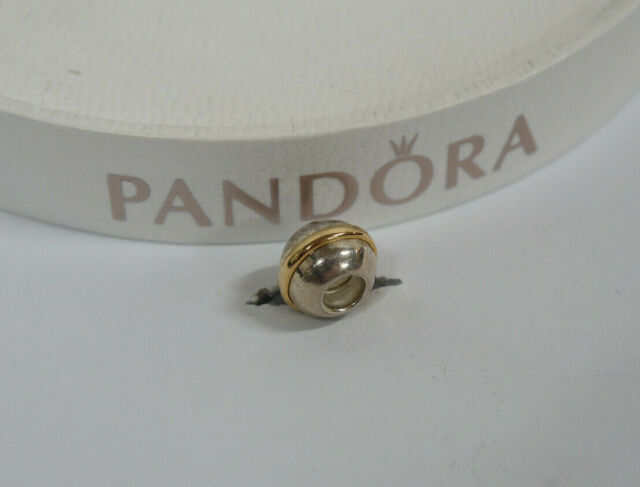 Pandora Saturn Two Tone Charm - 790178 - Sterling Silver and 14ct Gold
