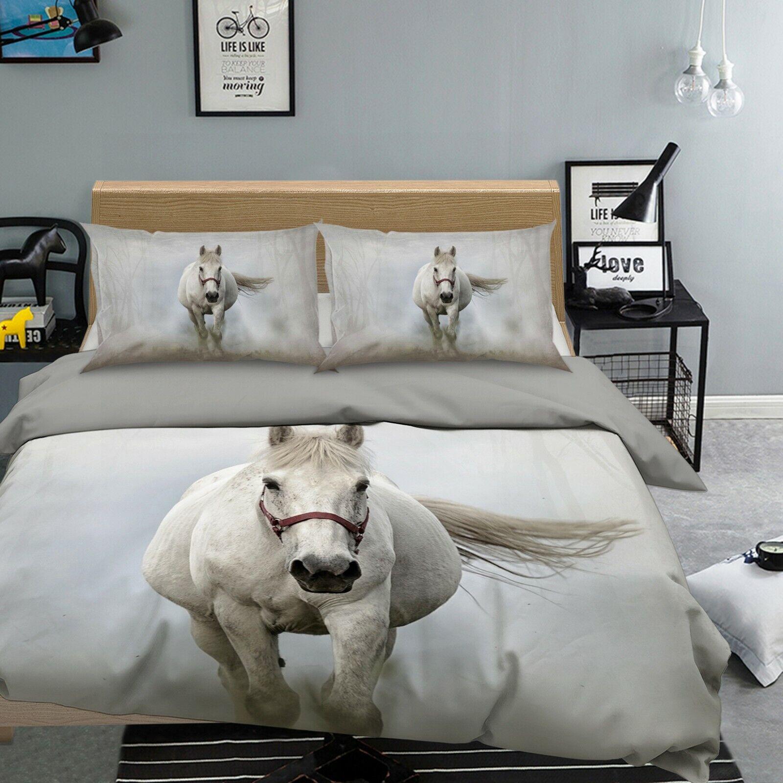 3d cheval hersaces m52 animal lit housses de coussin couverture couverture couverture Set à
