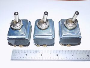 Details about AVIATION AIRCRAFT TOGGLE SWITCHES, LOT OF 3, CUTLER-HAMMER,  USA 15A, 4PST, 1/2