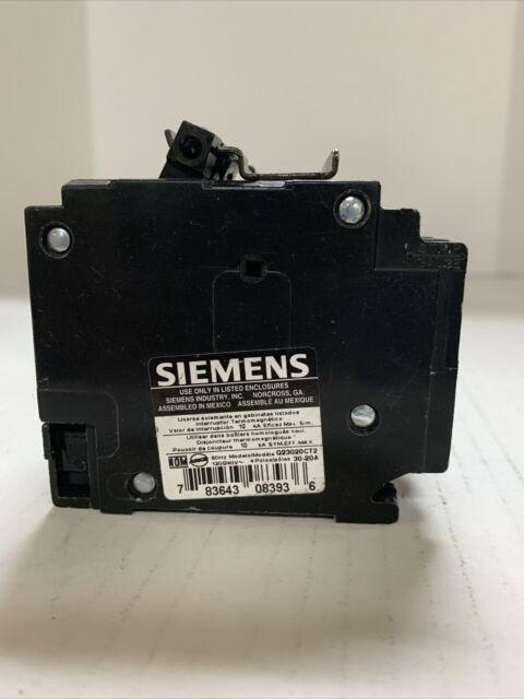 Q23020CT2 SIEMENS 2POLE 30/20AMP 120/240V CIRCUIT BREAKER NEW