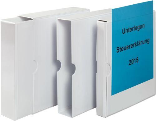 passendem Ringbuch PVC EICHNER Präsentations-Schuber inkl Rückenbreiten div