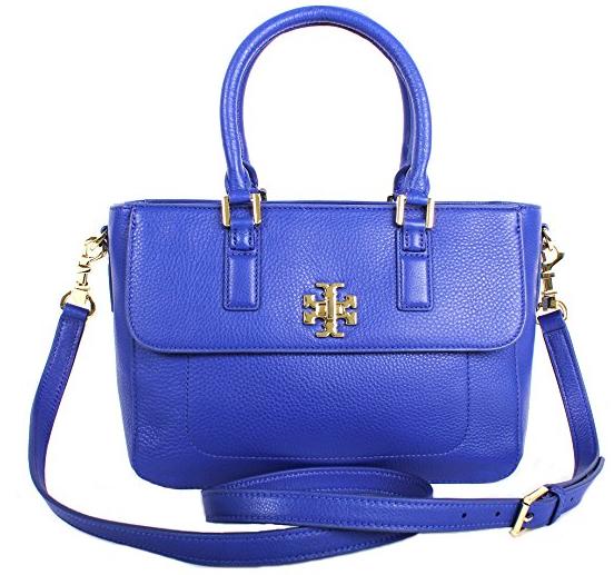 d227ec7bbd7 Tory Burch Mercer Mini Satchel Shoulder Bag Macaw Blue Style No.31384