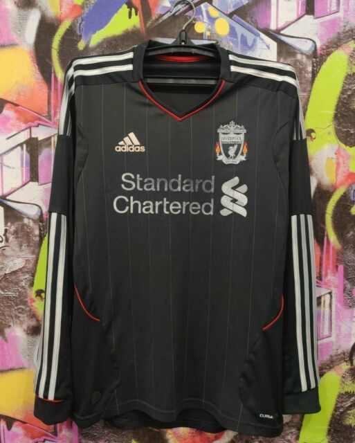 Liverpool FC 2011 2012 Away Football Soccer Longsleeve Jersey Top Adidas Mens M