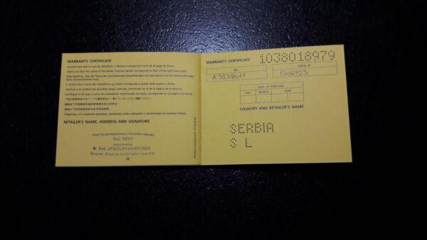 2019 Neuestes Design Breitling Garantie, Bedienungsanleitung Und Chronometer Zertifikat.