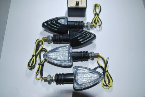 SET OF 4 LED E MARKED INDICATORS FREE 2 PIN LED FOR ZONTES MOTORCYCLES 18 LED