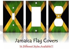Jamaica Flag Jamaican Kingston Country Light Switch Covers Home