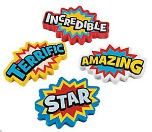 Roll-of-12-Rubber-Superhero-Erasers-Loot-Party-Bag-Fillers-Teacher-Supplies