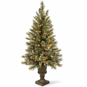 image is loading 4 ft glittery bristle pine pre lit christmas