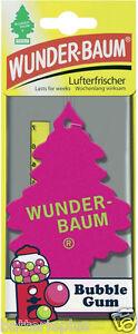 5X Original WUNDERBAUM® BUBBLE GUM Duftbäumchen Autoduft Lufterfrischer