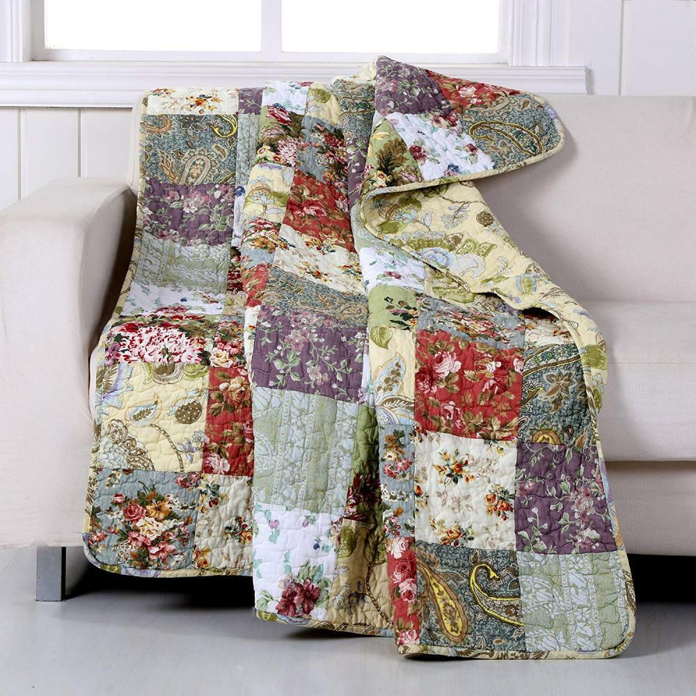 Grünland Home Blooming Prairie Quilted Patchwork Throw