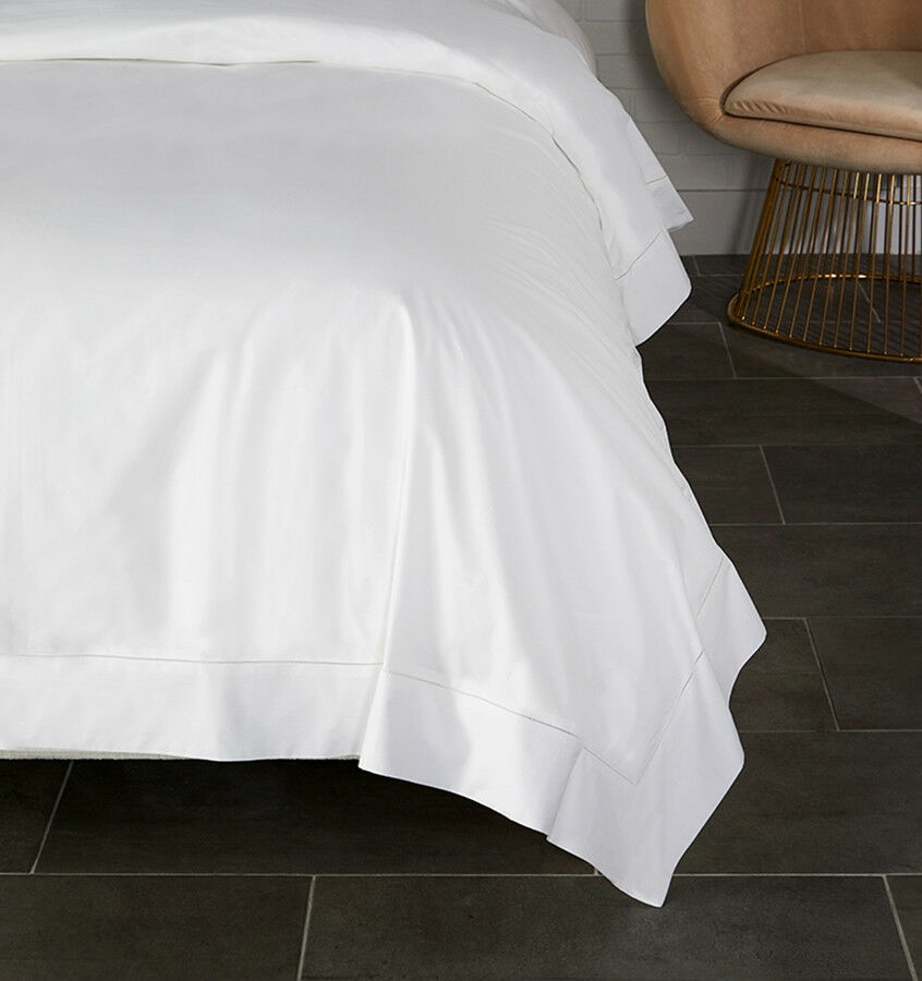 SFERRA ITALIAN ANALISA Weiß COTTON PERCALE DUVET COVER WITH HEMSTITCH