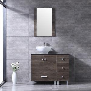 Image Is Loading 36 034 Bathroom Vanity Combo Wood Cabinet White