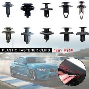 100x-Trunk-Screw-Rivets-Set-Car-Bumper-Fender-For-Auto-Plastic-Fastener-Clips