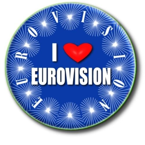 "EUROVISION SONG CONTEST PARTY PACK OF BADGES~ 55 MM// 2.2 /"" GREAT FUN!"