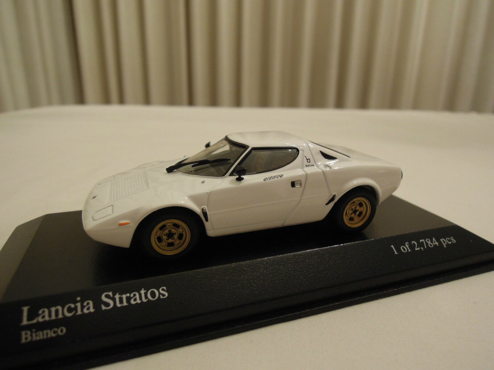 Minichamps Lancia Stratos White 1 43 Ltd. Edition New in Box Ships From USA
