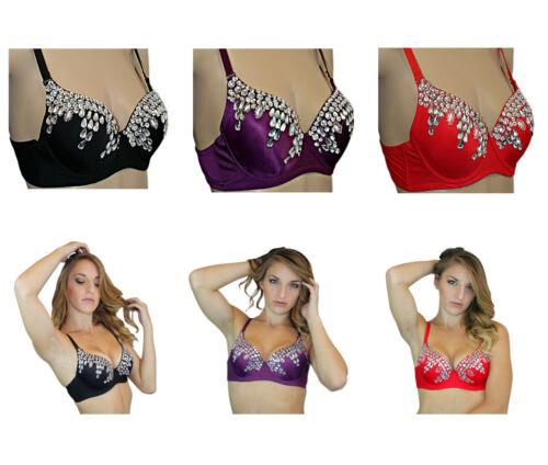 Exotic Burlesque Halloween Costume Sequin Belly Dance Bra Top Clearance Sale!
