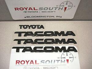 toyota 2012 2013 2014 2015 tacoma black emblems genuine. Black Bedroom Furniture Sets. Home Design Ideas