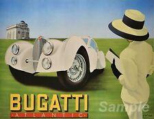 VINTAGE BUGATTI ATLANTIC ADVERTISING A4 POSTER PRINT