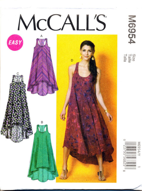 Mccalls Sewing Pattern 6954 Misses Sz 4 14 Easy Racer Back Tent