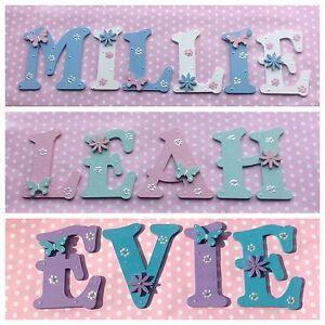 New Baby/Girls Name Wooden Letter Bedroom Nursery Door Wall