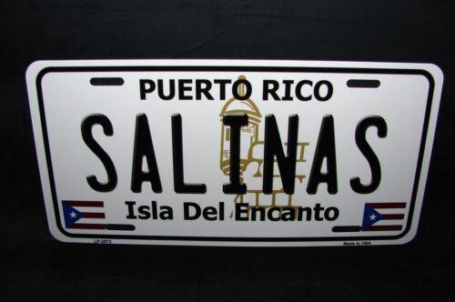 PUERTO RICO SALINAS ISLA DEL ENCANTO METAL NOVELTY LICENSE PLATE FOR CARS