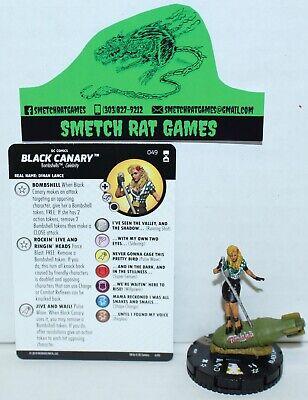 049 DC Rebirth HeroClix Miniature Super Rare Bombshell Black Canary