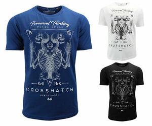 CROSSHATCH-Bonestee-Men-Skull-NEUWARE-NEW-T-Shirt-black-white-blue-S-XL