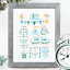 Personalised-Birth-Print-for-Baby-Boy-Girl-New-Baby-Gift-or-Christening-Present thumbnail 98
