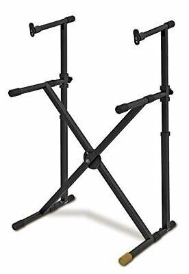 hercules ez lock double tier x keyboard stand 825232511427 ebay. Black Bedroom Furniture Sets. Home Design Ideas