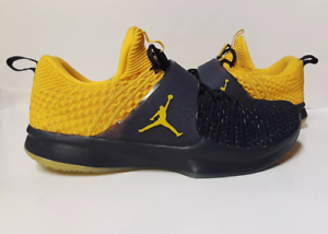 RARE Michigan Wolverines Shoes MEN S 11 Jordan Trainer 2 Flyknit ... f35578efd