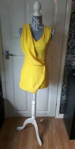 ladies new fashion union yellow playsuit size 8 - Runcorn, United Kingdom - ladies new fashion union yellow playsuit size 8 - Runcorn, United Kingdom