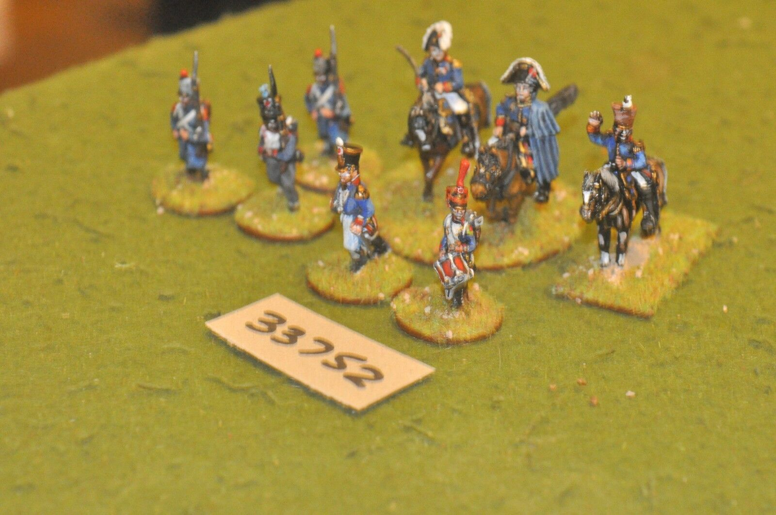 25mm napoleonic   french - officers & escort 8 figures - command (33752)