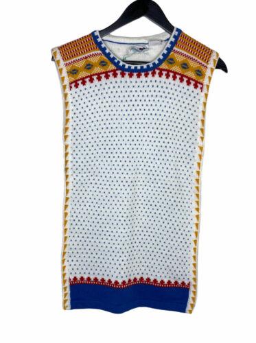 top sleeveless shirt 1990/' silk eastern pattern Size XL. blouse